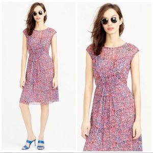 J Crew sweet meadow silk dress size 4